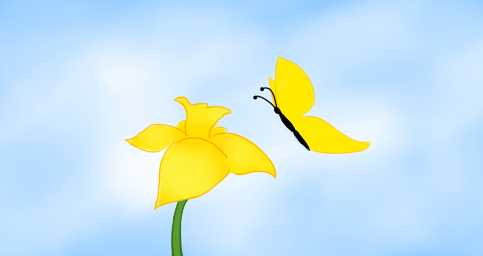 Daffodil & Butterfly. Copyright 2013 Leah Jones