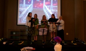 &quot;Tea Time Singers&quot; Vicki Williams, Amber Welton and others singing &quot;Footsteps of Jesus&quot;