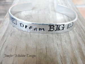 Buy this beautiful, hand stamped cuff to help fund Beth's Africa speaking/missions trip!