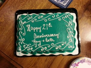 Beautiful anniversary cake