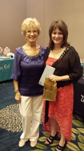 Joanie Qualls, conference attendee, and me